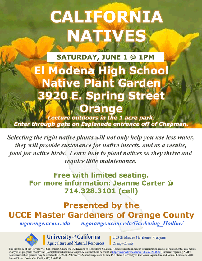 Have You Heard About the California Natives Lecture?