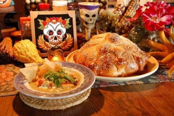 Altar con comida