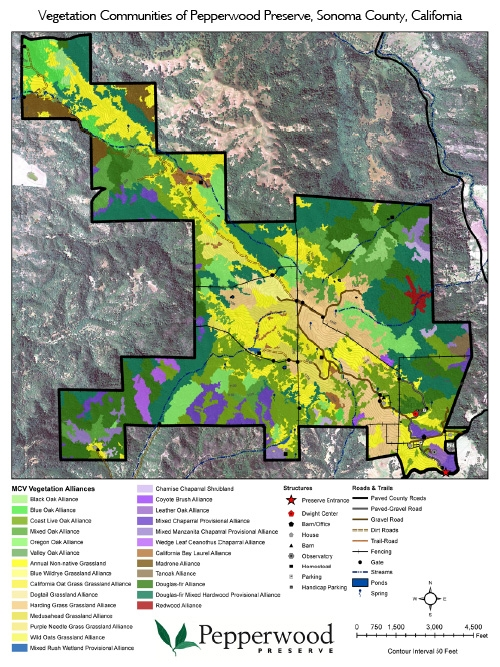 Pepperwood 2016VegCommunities Map
