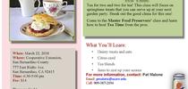 Tea time march 2018 for Master Food Preservers San Bernardino County Blog
