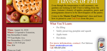 Flavors of fall 1-up Aug18 flyer for Master Food Preservers San Bernardino County Blog