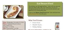 nov 2019 for Master Food Preservers San Bernardino County Blog