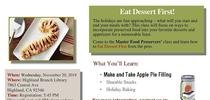 Nov 20 Eat dessert First class for Master Food Preservers San Bernardino County Blog