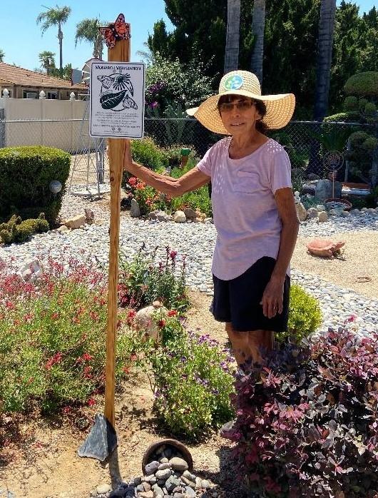 Master Gardener Esther Martinez in Her Pollinator Garden