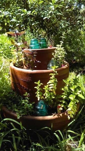 Three-tiered herb garden