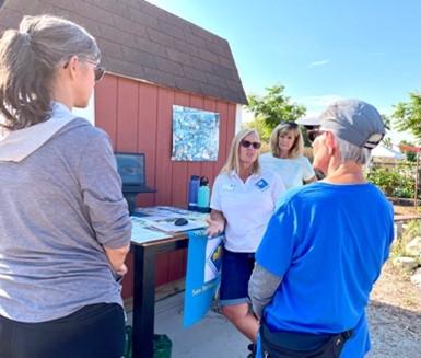 Master Gardener Debi A. teaching composting a workshop