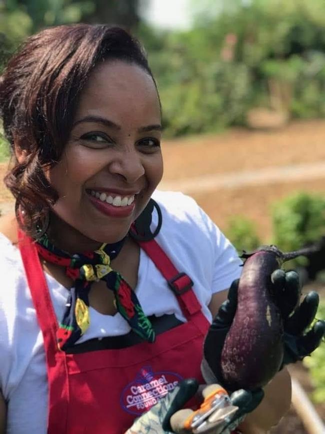 Elizabeth McSwain 'Seeds of Joy' garden first harvest