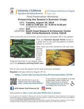 2019 0820 SCREC Class  Summer Crops