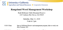 Rangeland Meeting May 11th for Notes in the Margins: Agronomy and Weed Science Musings Blog