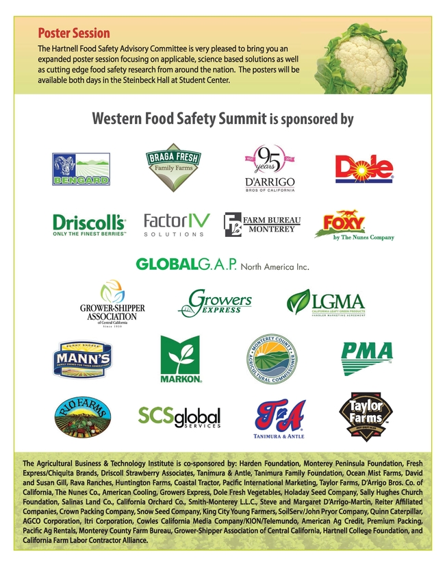 Western Food Safety Summit flier Page 2