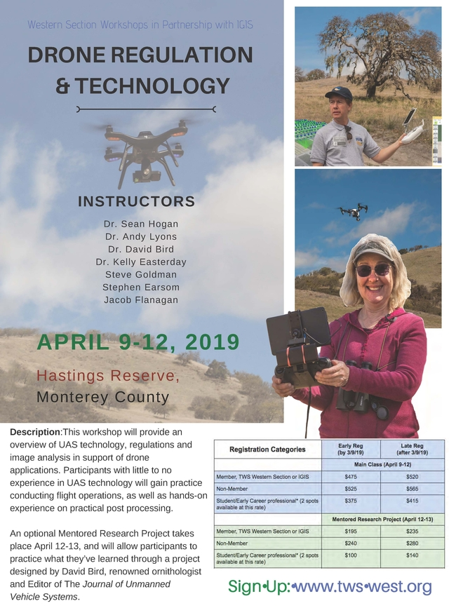 Flier - Hastings Drones for Biologists Wkshp April 2019