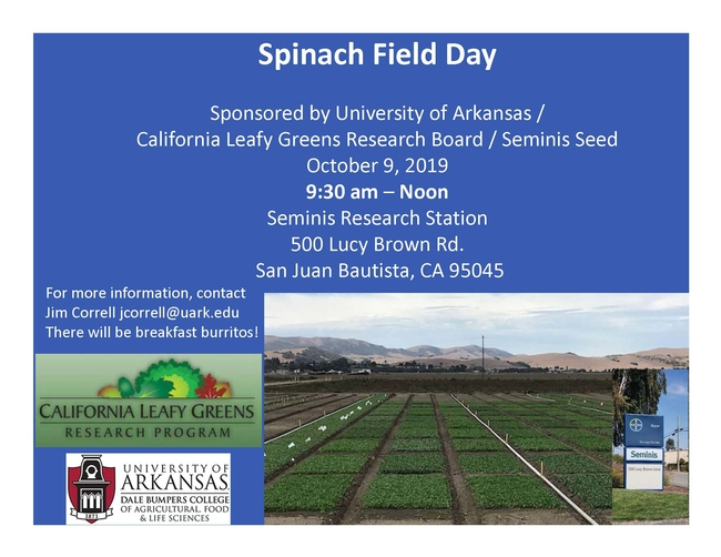 Spinach Field Day
