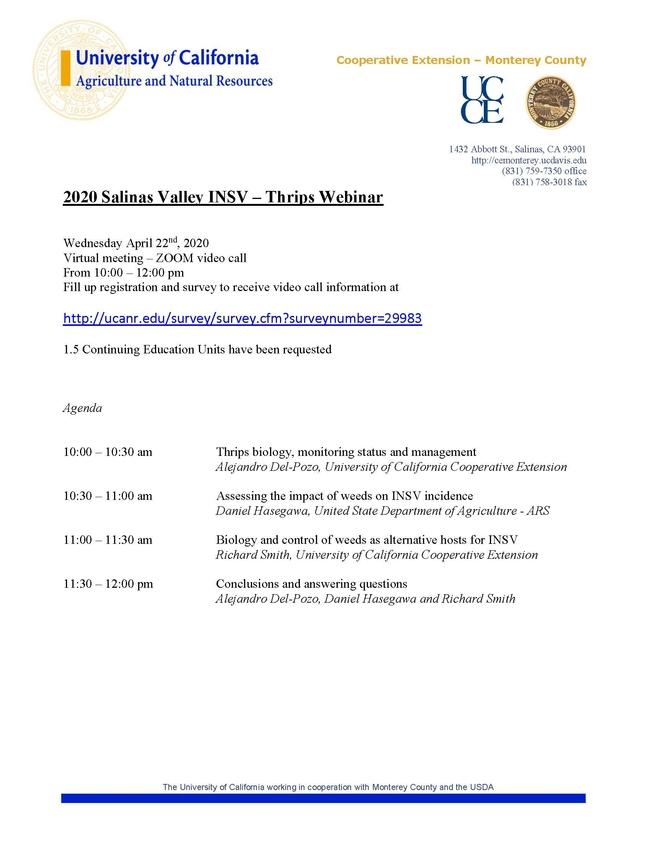 2020 INSV Thrips Seminar AGENDA v4