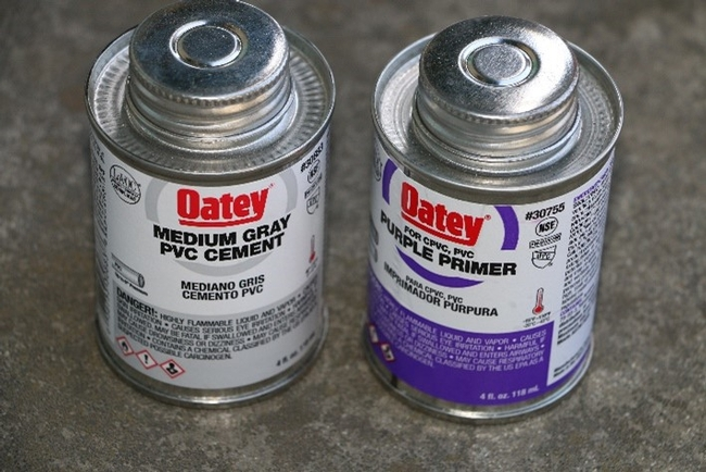 Fig. 3 PVC cement and primer.
