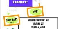 Leadership Day Flier for San Bernardino 4-H Blog