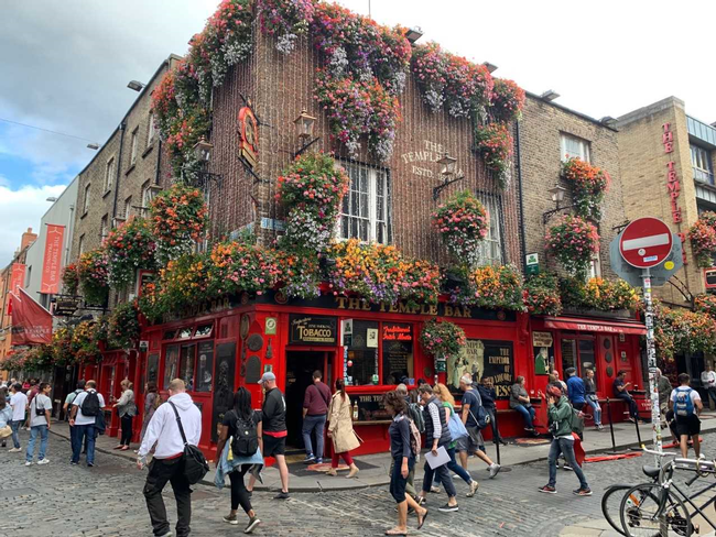 pubs and flower boxes
