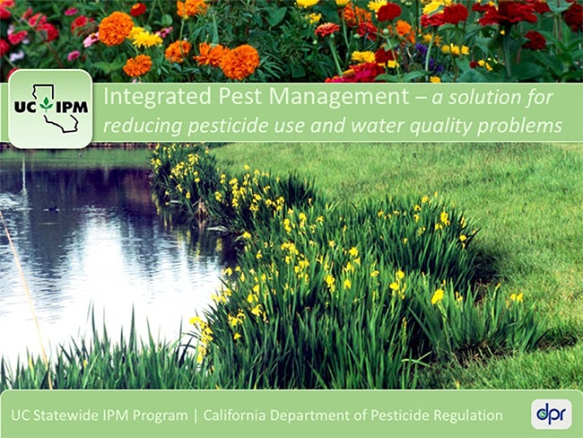 Title slide of IPM and Pesticide Properties online course