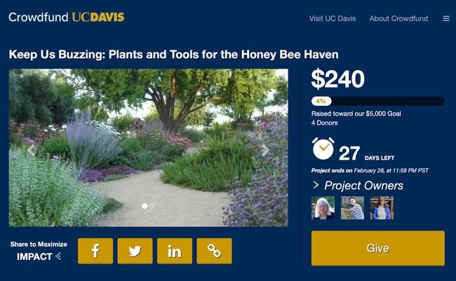 UC Davis Crowdfund Haven screenshot