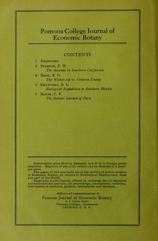 Pomona contents 1911