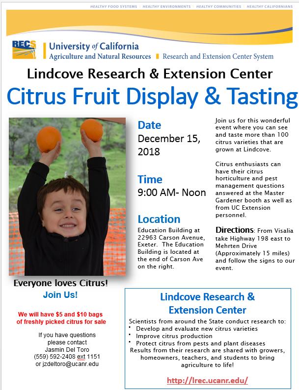 lindcove fruit tasting