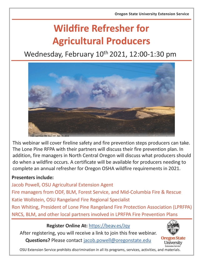 2021 Ag Wildfire Refresher