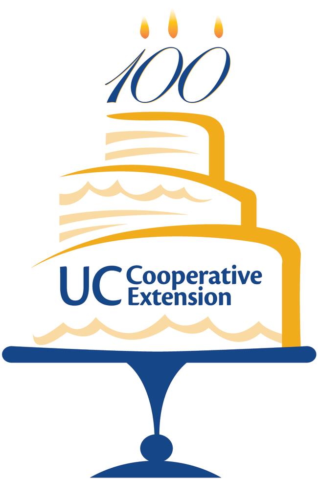 UCCE Centennial Cake logo