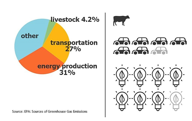 GHG from different sectors