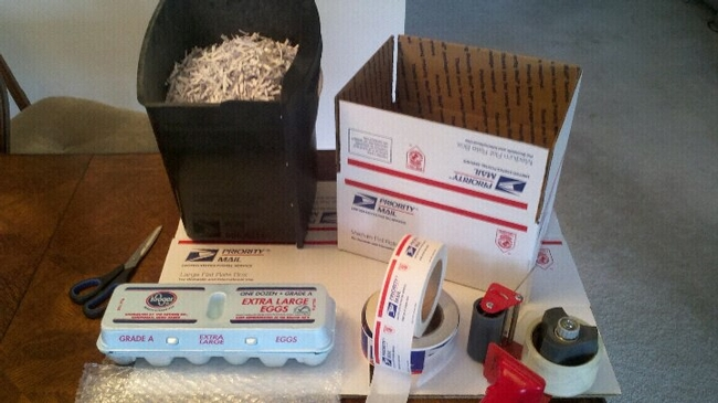 Example of shipping materials