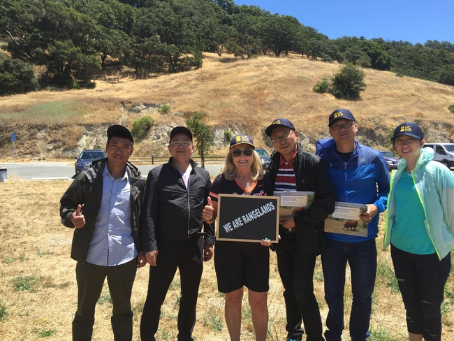 Delegates with Dr Stephanie Larson at Taylor Mountain, Sonoma County Regional Park