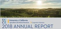 2018 UCCE Sonoma Annual Report cover for UCCE Sonoma Blog