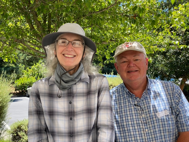 Rhonda with Glenn McGourty, Vit and Plant Sci Advisor for Mendocino, also retiring on June 30.