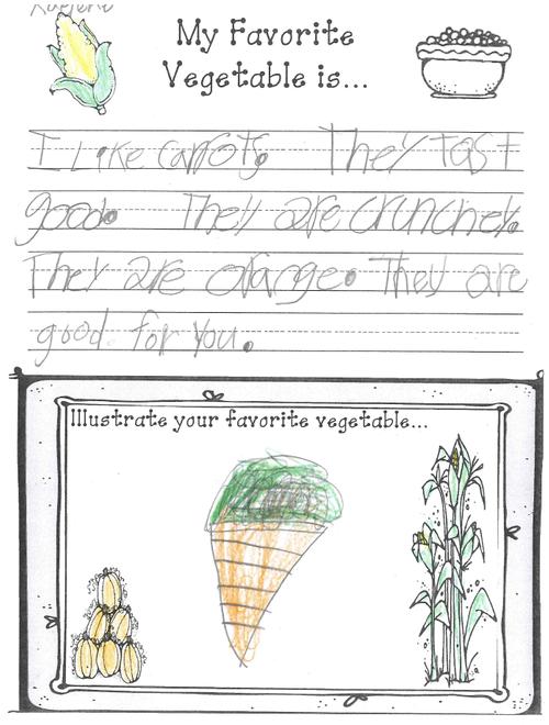 Lowell Gutierrez 1st Grade Fruits Veg Assignment picture