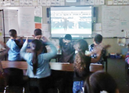Students participating in physical activity