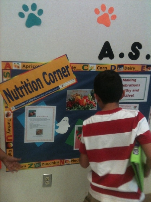 Nutrition Corners are a hit with students!