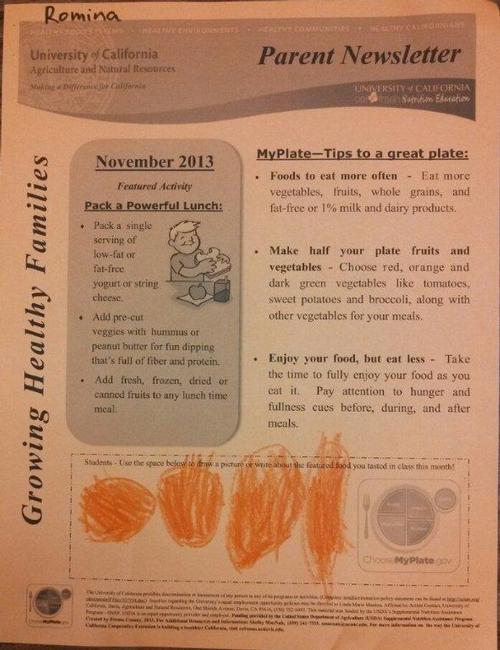 Muir Prek use of November Newsletter
