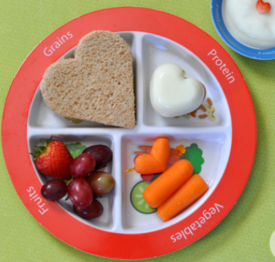 MyPlate with Hearts