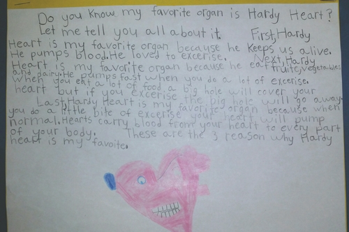 Students write about their favorite OrganWise Guys character!