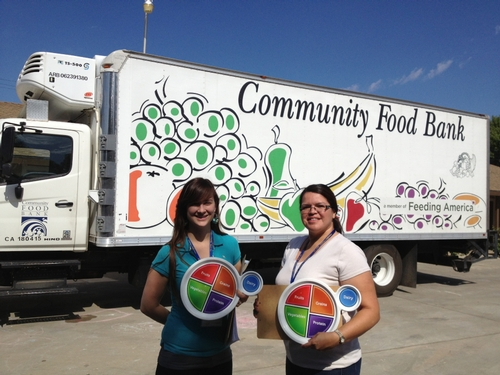 Nutrition Educators, Kaili Acosta and Nancy Zumkeller are ready to talk with families about eating healthy on a budget!