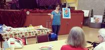 Nutrition Educator Kaili Acosta teaching the Plan Shop Save cook series at Pinedale Community Center. for UC CalFresh Fresno County Blog
