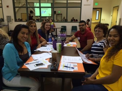 Fresno County UC CalFresh Staff (clockwise from left) Consuelo Cid, Maira Enriquez, Emily Harris, Javier Miramontes, Yolanda Lopez and Nath Say.