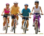 pa family riding bikes