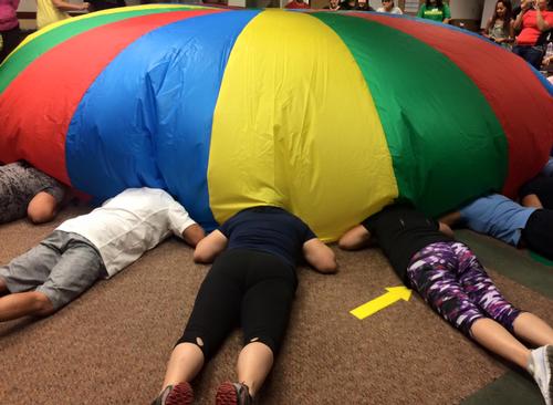 Peek Your Head Under the Parachute!