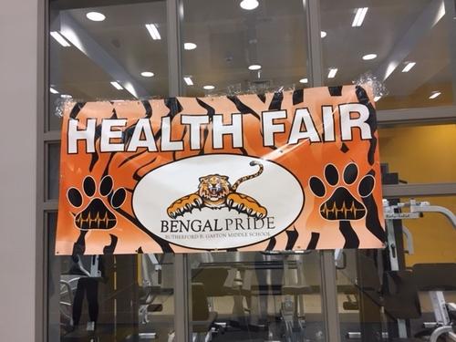 Gaston Health Fair Sign