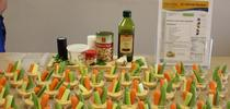 A display was prepared of the vegggie and hummus recipe. A few ingredients come together to make an easy and delicious snack for UC CalFresh Fresno/Madera Counties Blog