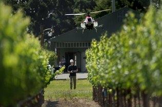 drone crop duster Sac Bee  Randall Benton