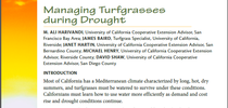 cover Managing Turfgrasses During Drought for UC Weed Science Blog