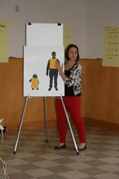 Pesticide Safety Education Coordinator, Lisa Blecker, conducts a Train-the Trainer workshop.