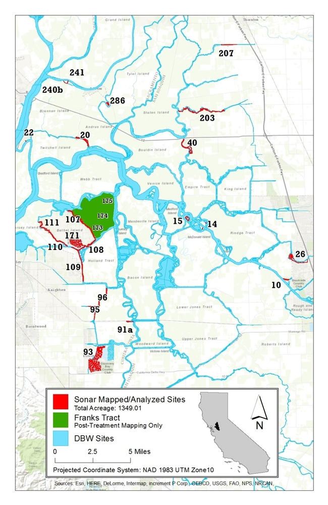 Figure 1. 2016 SAV survey and treatment site map