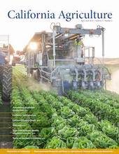 California Agriculture magazine cover