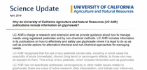 Info sheet: Why do University of California Agriculture and Natural Resources (UC ANR) publications include information on glyphosate? for UC Weed Science Blog